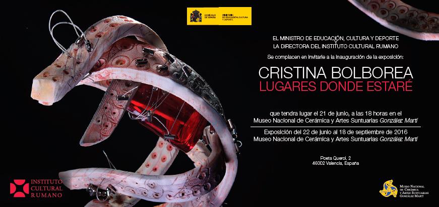 Cartel de la exposición de Cristina Bolborea