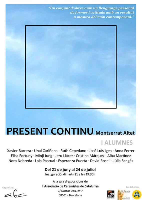 Cartel de la exposición de Montserrat Altet y sus alumnos en la ACC