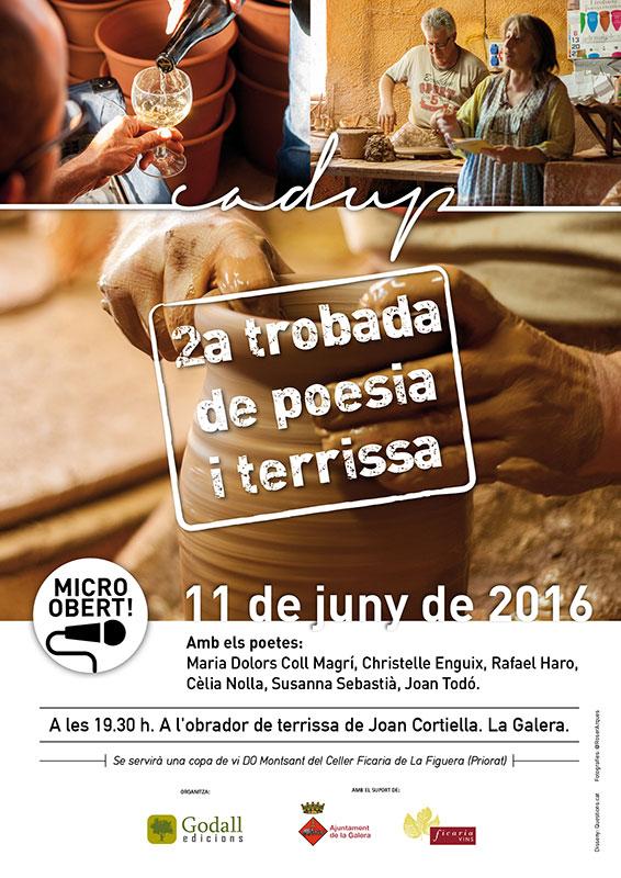 cartel de la II Jornada de poesía y alfarería de la Galera, Tarragona