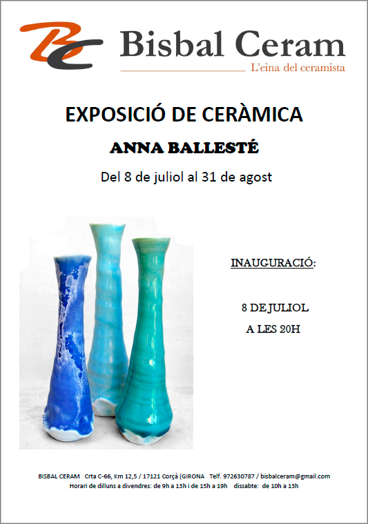 cartel de la exposición de Anna Ballesté
