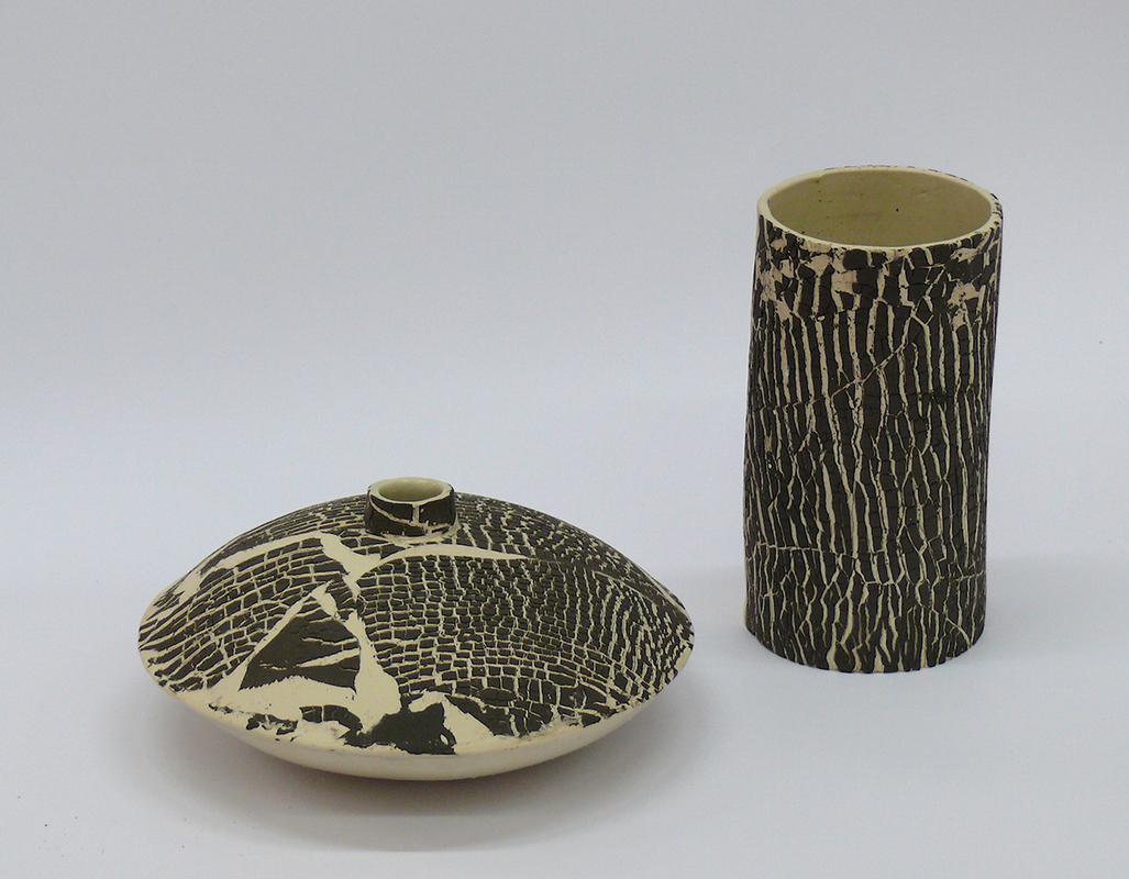 Pieza de cerámica de M.ª del Mar Bote Blanco