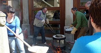 Imagen de cocción de rakú realizada por Regalceramica