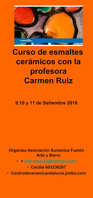 Cartel del curso de Carmen Ruiz