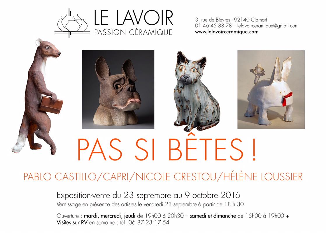 Cartel de exposición de cerámica en la Galería Le Lavoir
