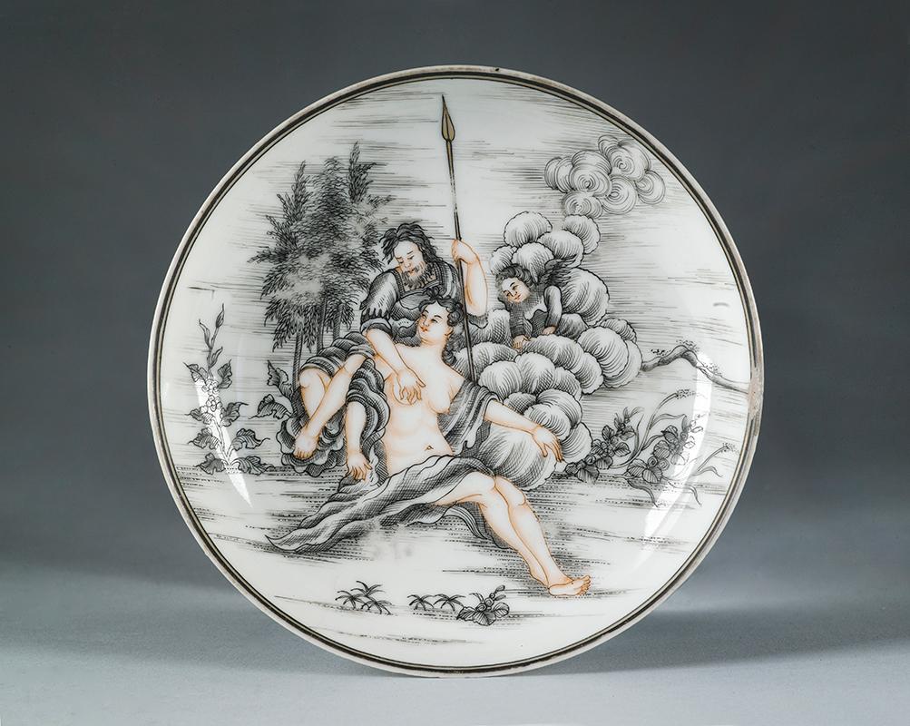 Plato con imagen de Marte y Venus
