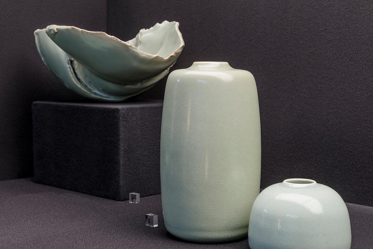 cerámica con esmalte celadón