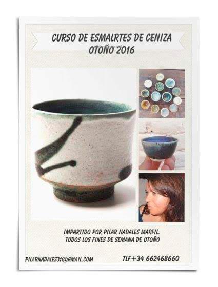 Cartel del curso de cerámica de Pilar Nadales