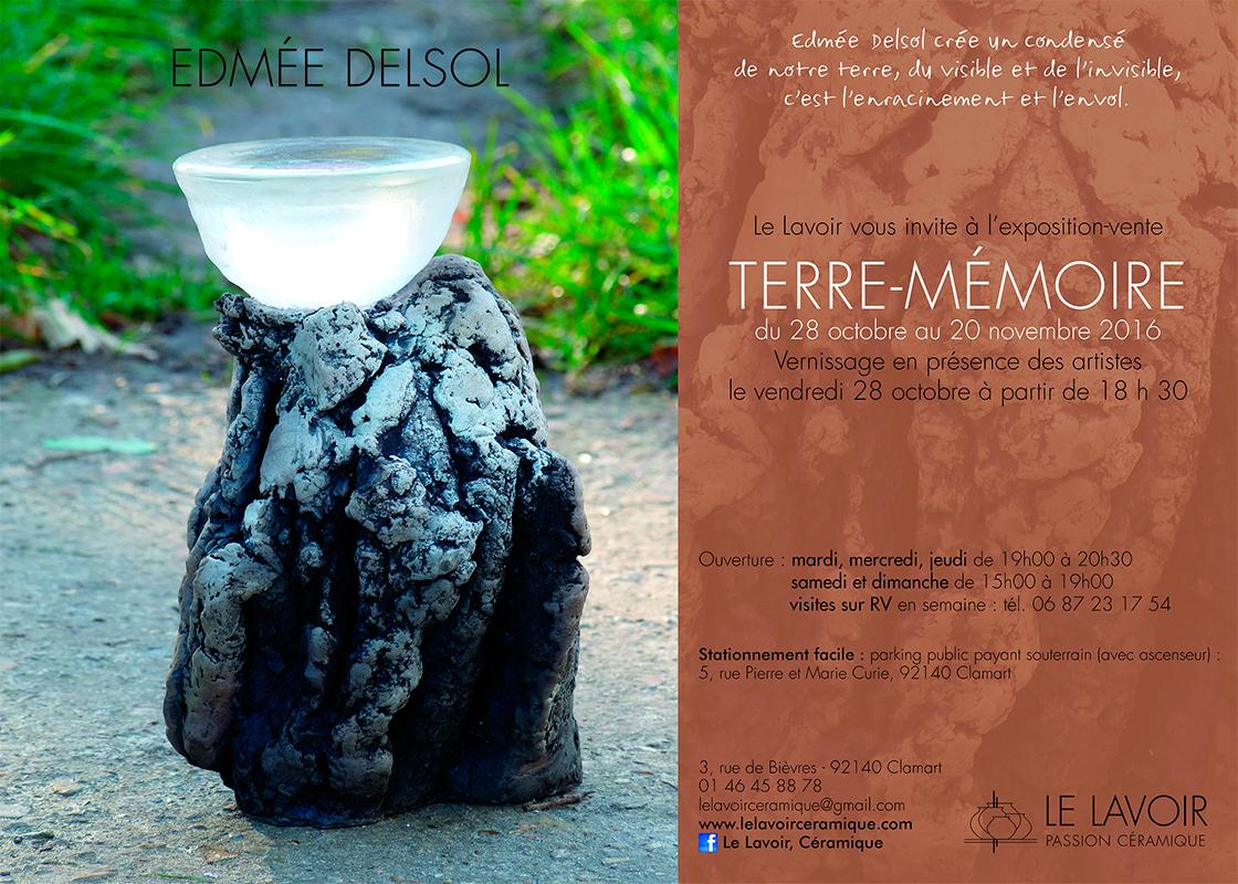 cartel de la exposición de Edmée Delsol