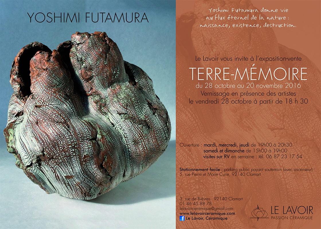 cartel de la exposición de Yoshimi Futamura