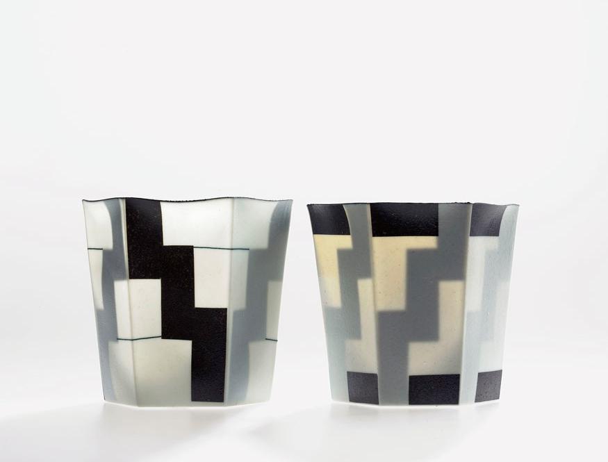 Pieza de cerámica de Bodil Manz