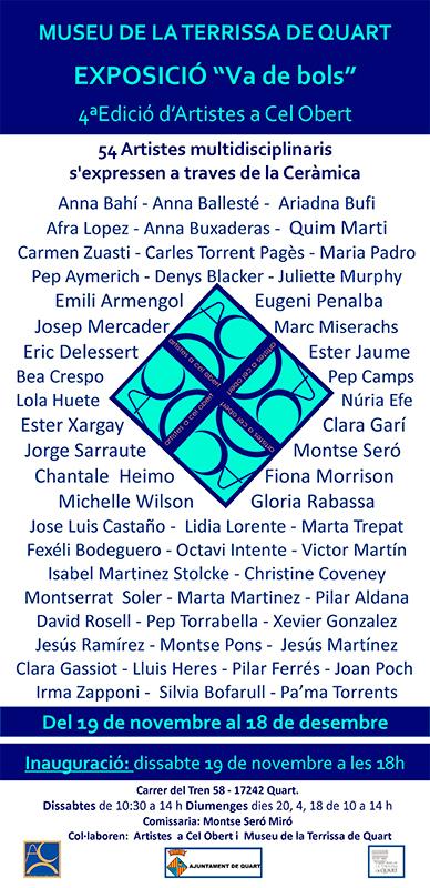 cartel de la exposición de cerámica en el Museu Terracotta de Quart