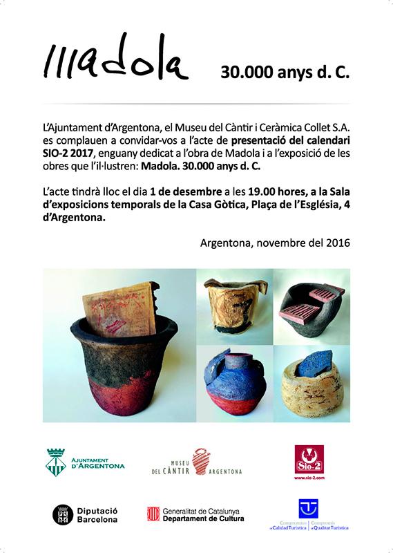 Cartel de la exposición de cerámica de Madola