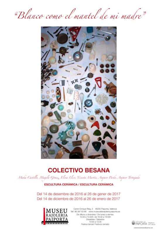 Cartel de la exposición de cerámica del Colectivo Besana