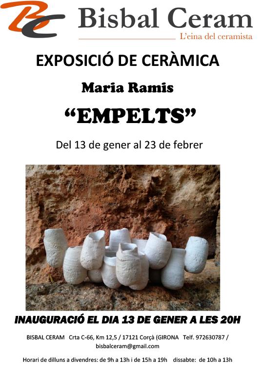 Cartel de la exposición de cerámica de Maria Ramis