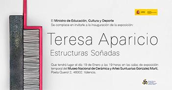 Cartel de la exposición de cerámica de Teresa Aparicio