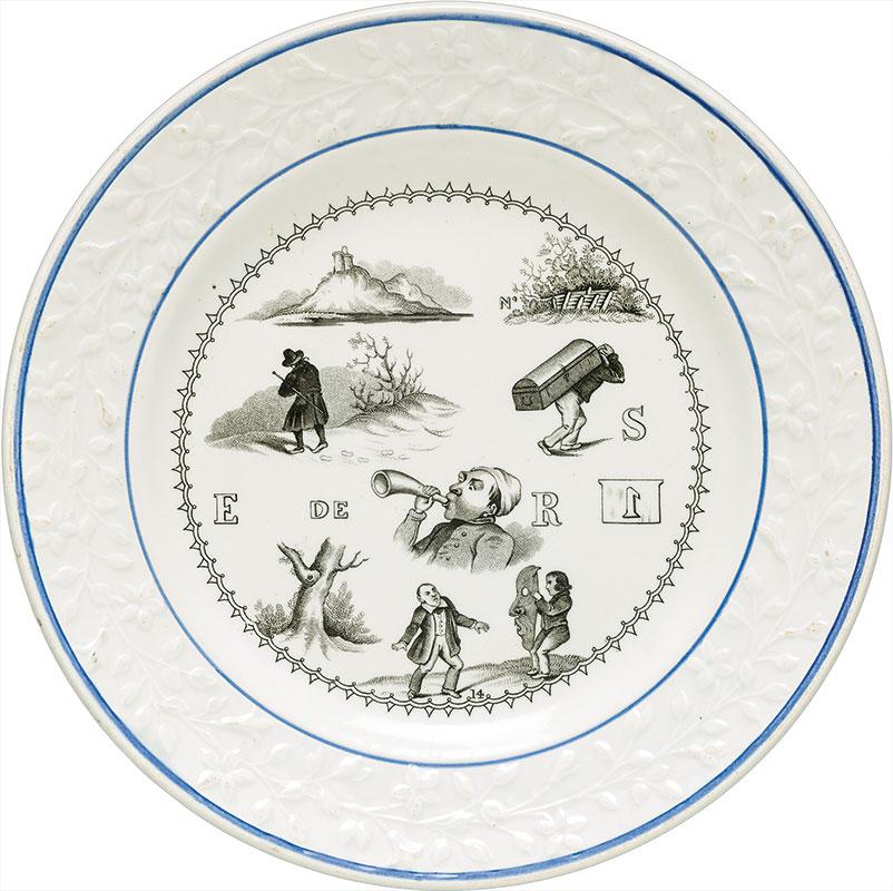 Plato de cerámica del Museo Ariana