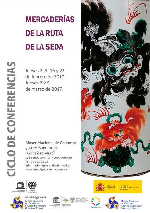cartel del ciclo de conferencias en el museo de cerámica de Valencia
