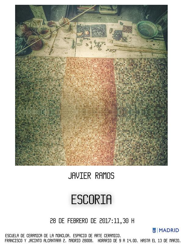 Cartel de la exposición de ceerámica de javier Ramos