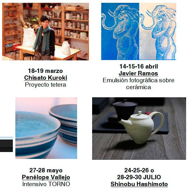 Cursos de cerámica de Penelope Vallejo