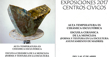 Cartel de exposición de cerámica