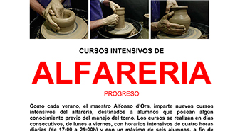 Clases de alfareria madrid cursos intensivos hydraulic for Curso ceramica madrid
