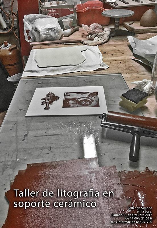 Curso de litografía sobre cerámica