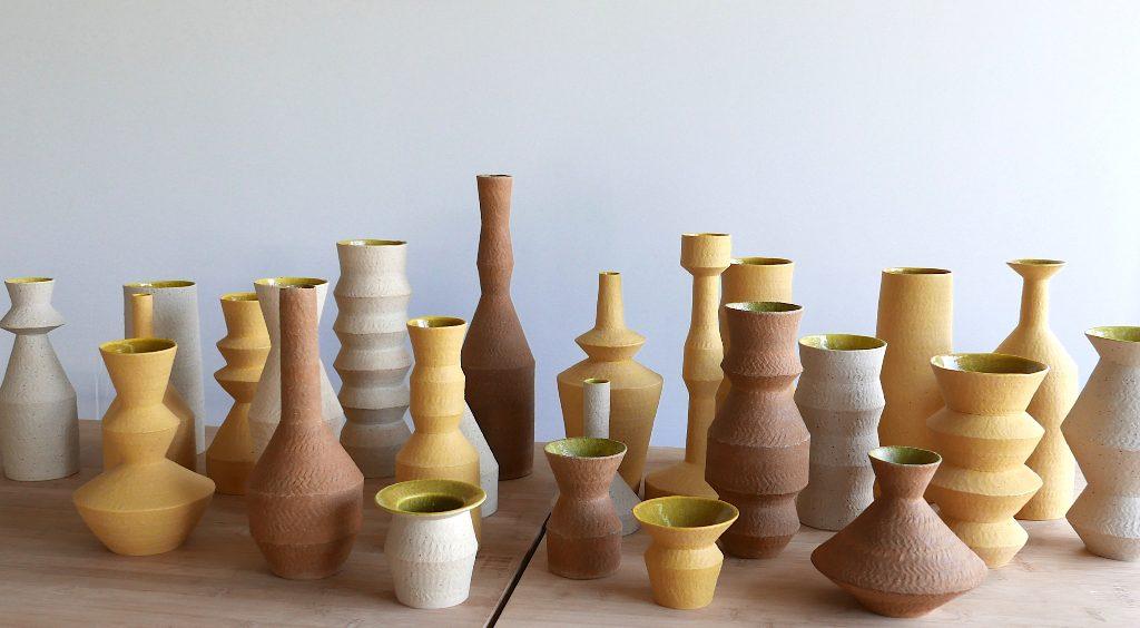 Pieza de cerámica de Kiho Kang