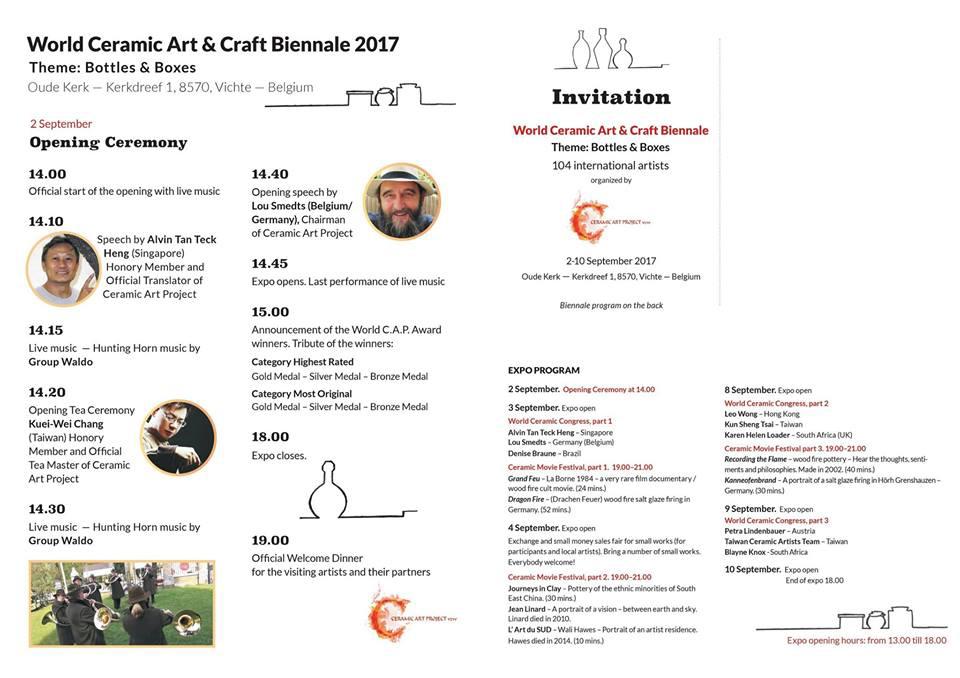 programa de la bienal de cerámica