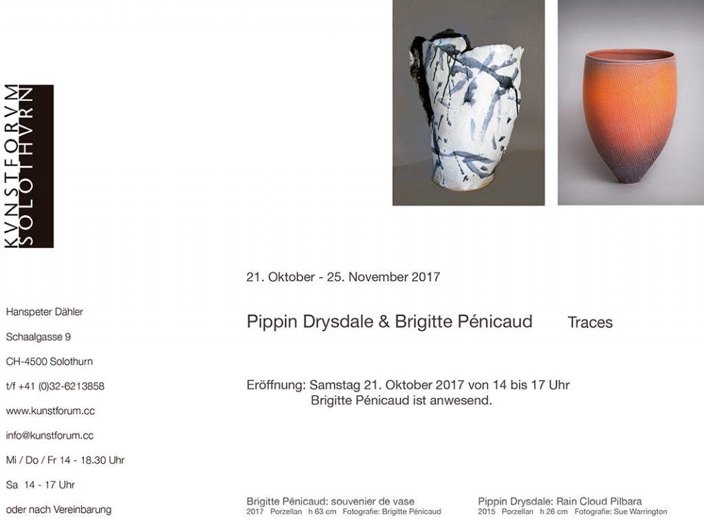 Anuncio de la exposición de Pippin Drysdale y Brigitte Penicaud