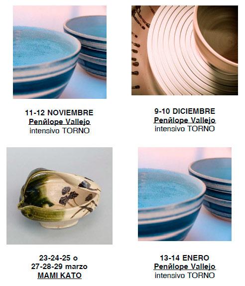 Cursos de cerámica con Penelope Vallejo