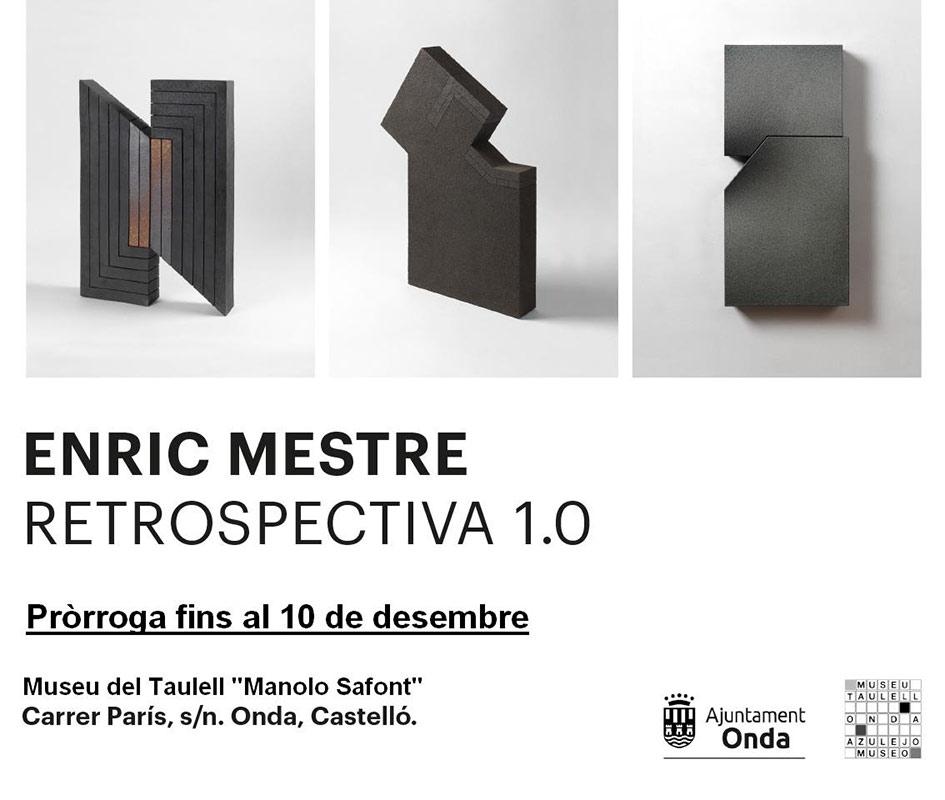 Cartel de la exposición de cerámica de Enric Mestre