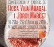 Cartel de la conferencia de Rosa Vila-Abadal y Jordi Marcet