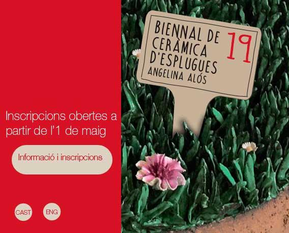 cartel de la Bienal de Cerámica de Esplugues de Llobregat