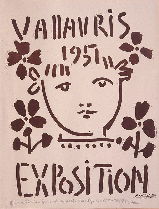 Cartel de exposición de Picasso