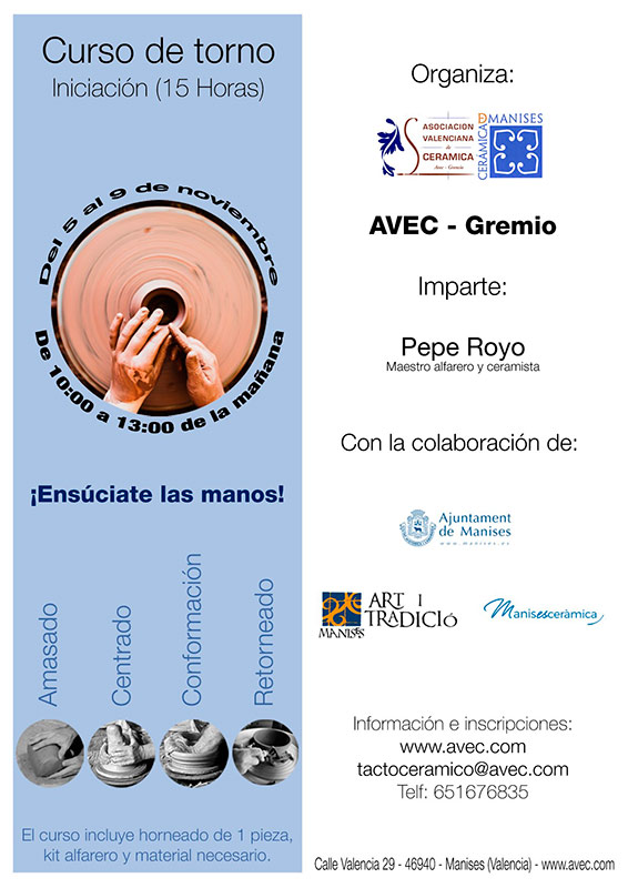 Curso de cerámica de Pepe Royo