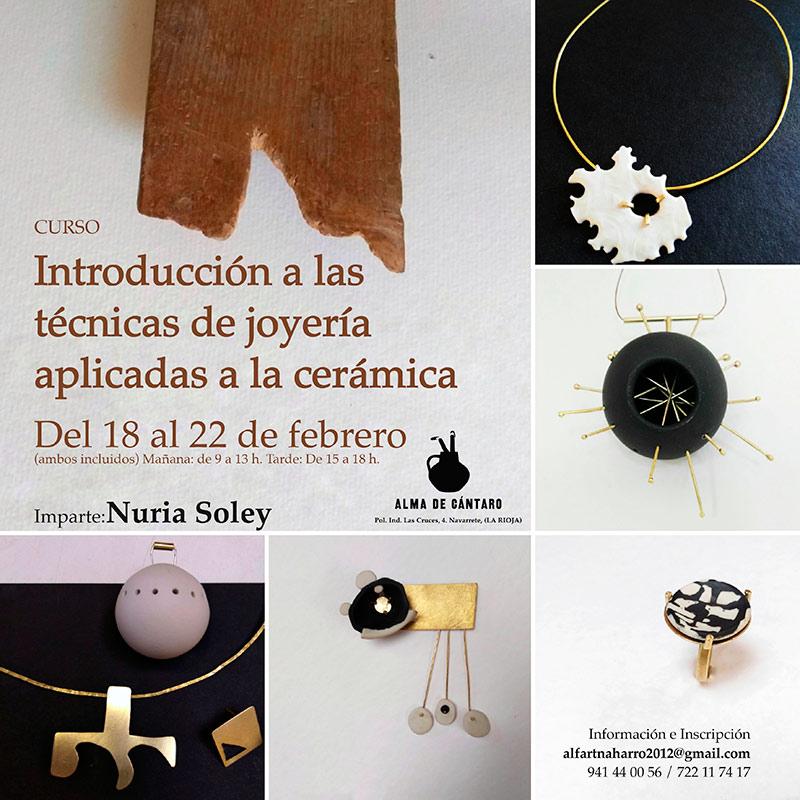Curso de joyería en cerámica de Nuria Soley