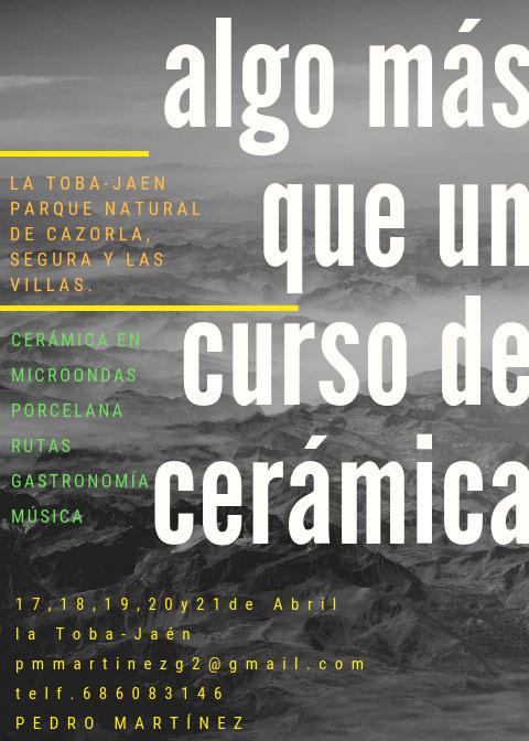 Curso de cerámica de Pedro Martínez