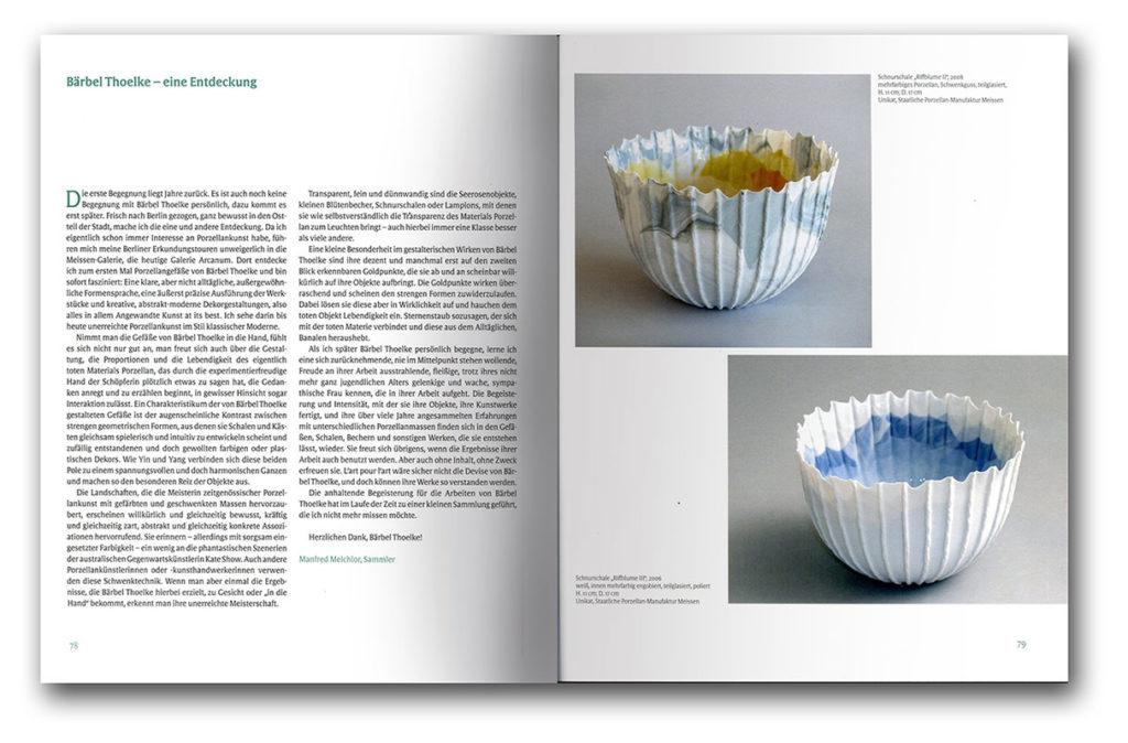 Páginas interiores del libro sobre el ceramista aleman Bärbel Thoelke