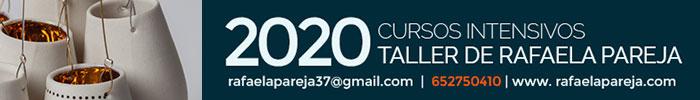 Cursos intensivos de cerámica 2020 - Taller de Rafaela Pareja, Valencia