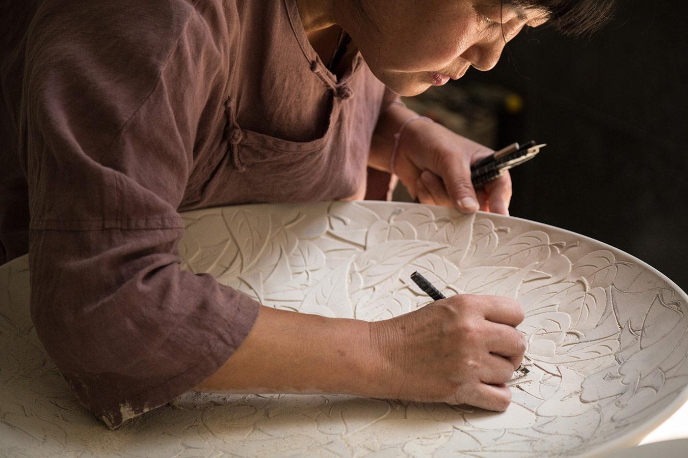 Artista de la cerámica china