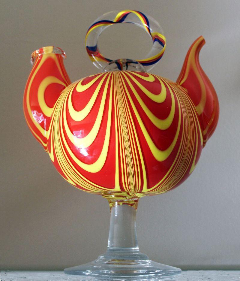 Botijo de vidrio en el Museu del Càntir de Argentona