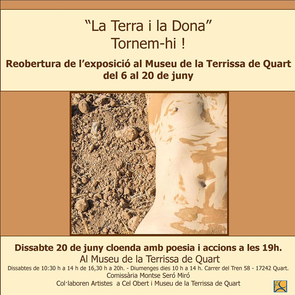 Cártel de la exposición de cerámica en el Museu Terrissa de Quart