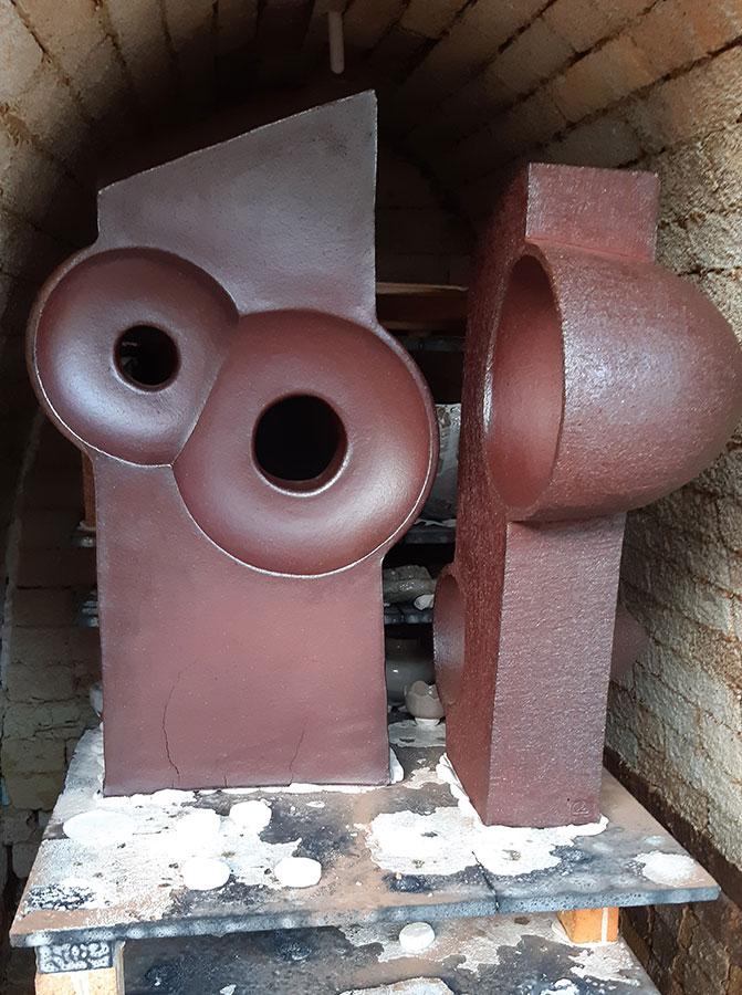 Piezas de cerámica de César Torres