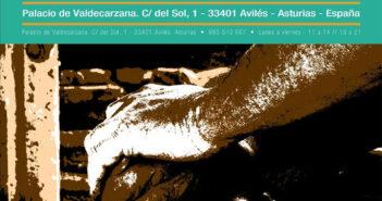 Cartel de la V Exposición Internacional de Arte Postal en Avilés