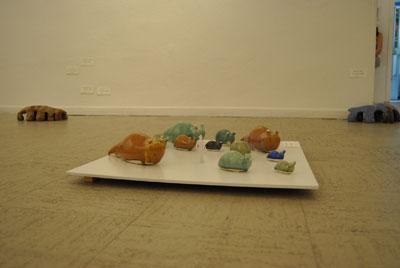 Escultura cerámica de Ana ferichola