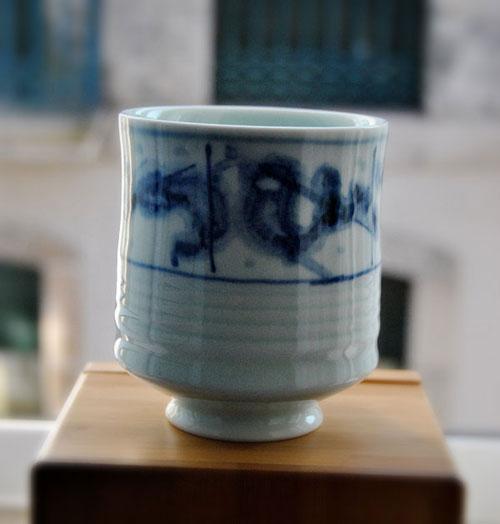 Pieza de Bai Ming realizada en porcelana