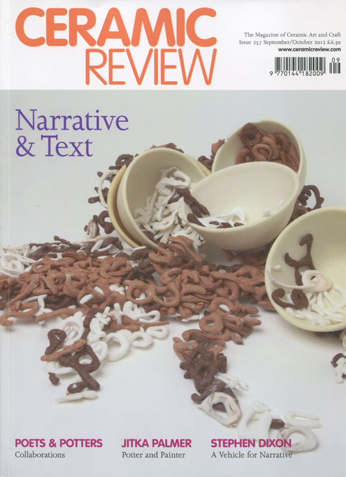 Portada de la revista Ceramic Review