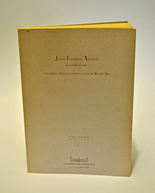 Libro Josep Llorens Artigas. Escrits d'Art
