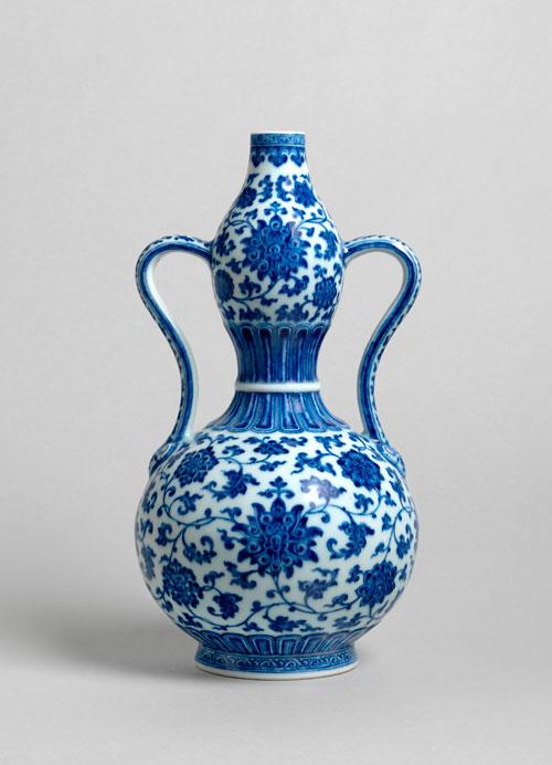Pieza de porcelana de la Dinastía Qing, China