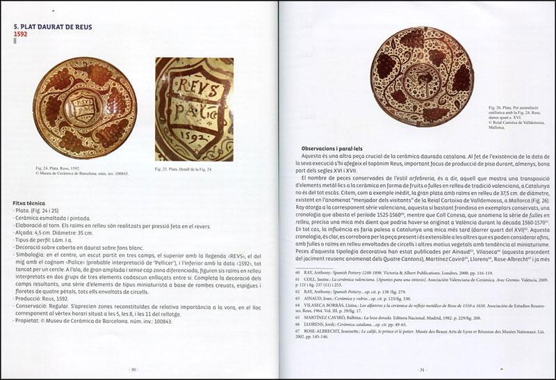 páginas del libro La cerámica catalana datada com a punt de referència